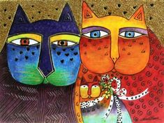 Image Detail for - Laurel Burch Decor - Feline Family RLB-09021