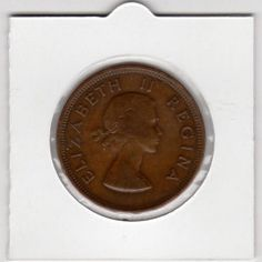 1954 Union Of South Africa - 1 Penny - - In 2 x 2 Coin Flip in the Penny category was listed for on 13 Jan at by Karoo Banksy in Johannesburg Union Of South Africa, Coin Values, Flipping, Coins