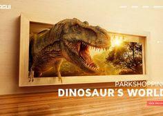 ParkShopping Dinosaur´s World by Miagui Imagevertising, via Behance Best Portfolio Websites, Portfolio Website Design, Award Winning Websites, Web Design Awards, Website Design Inspiration, Ui Inspiration, Creative Inspiration, Best Web Design, Creative Studio