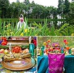 bright colorful wedding inspiration