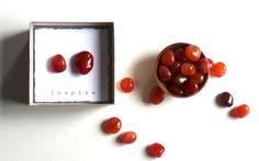 I N S P I R E  CARNELIAN intention stones with gift box hostess gift small gift unique wedding favor