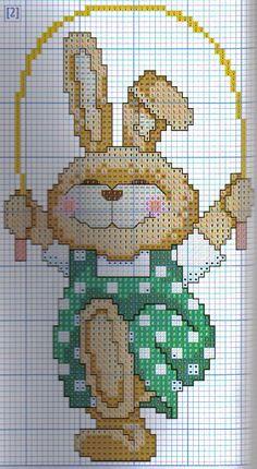 Love the cross stitch bunny Cross Stitch For Kids, Cross Stitch Baby, Cross Stitch Animals, Cross Stitch Charts, Cross Stitch Designs, Cross Stitch Patterns, Cross Stitching, Cross Stitch Embroidery, Hama Mini