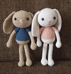 This is Jenny the Bunny she is 20 cm tall. Free pattern.
