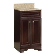 Home Decorators Collection Grafton 18-1/2 in. Vanity in Crimson with Granite Vanity Top in Beige-PPWYNCRM18 at The Home Depot