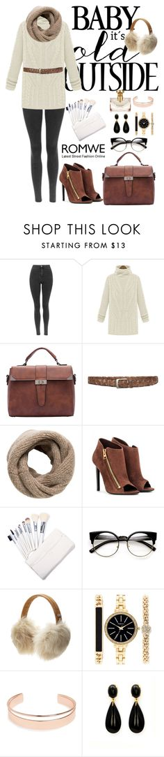 """Romwe 3"" by amra-f ❤ liked on Polyvore featuring MANGO, Tom Ford, UGG Australia, Style & Co., Leith, Bulgari, Winter, 1d, romwe and 5sos"