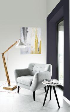 PEINTURE SICO | La teinte Fonte est la couleur de l'année SICO 2018! Appliquée ici dans un encadrement rapellant une alcôve, elle crée un refuge où se retirer au sein même de la maison. Elle apporte également réconfort et quiétude à tout espace.