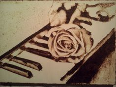 """""""Rosa""""  Dimensione A4  Compensato di pioppo"""
