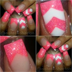Check out my tutorial on my YouTube channel for the chevron nail!