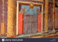 Download this stock image: Rome Italy Europe ancient Rome style craftsmanship painter art artist illusion wall home domestic villa decoration decorate - DYDJJ5 from Alamy's library of millions of high resolution stock photos, illustrations and vectors.