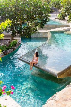 Backyard Pool Designs, Swimming Pool Designs, Swimming Pools, Lap Pools, Indoor Pools, Backyard Pools, Pool Decks, Pool Landscaping, Beautiful Places To Travel