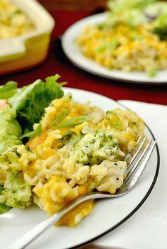 Skinny Cheesy Chicken and Broccoli-Rice Casserole