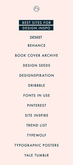 Design Inspo. My go-to places for design inspiration www.desket.co #design #inspiration