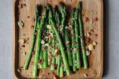 Asparagus with Pancetta recipe on Food52