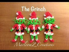 ▶ Rainbow Loom: The Grinch That Stole Christmas - YouTube