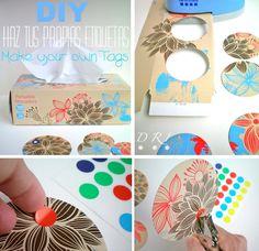 DIY: Etiquetas Recicladas - Make your own Tags -  Tutorial