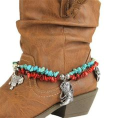 Boot Saddle Cowboy Hat Western Cowgirl Cowboy Boot Jewelry Anklet Charm | eBay
