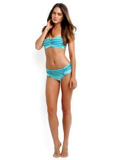 Zoggs MIDDLETON Bikini metallic turquoise//black