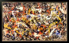 Convergence Pre-made Frame by Jackson Pollock at Art.com
