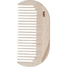 HAY Waxed-beechwood small comb (36 BRL) ❤ liked on Polyvore featuring beauty products, haircare, hair styling tools, brushes & combs, fillers, beauty, hair, accessories, items and magazine