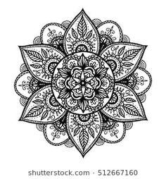 Immagine vettoriale stock 512667160 a tema Bohemian Indian Mandala Print Vintage Henna (royalty free) Tattoo Mandala Feminina, Mandala Arm Tattoo, Mandala Doodle, Mandala Print, Mandala Drawing, Henna Mandala, Henna Tattoos, Body Art Tattoos, Mehndi Flower