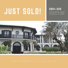 Yellow and Gray Just Sold Real Estate Social Media Graphic Selling Real Estate, Winter Is Coming, Social Media, Templates, Mansions, House Styles, Design, Home Decor, Quote