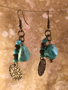 Items Similar To Turquoise Dangle And Drop Earrings Gift For Her Natural Christmas Unique Gifts Under 15 On Etsy