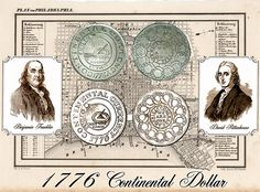 """Did You Know... Continental Dollars are rich in American symbolism, using designs provided by Benjamin Franklin, and David Rittenhouse, who became the first Director of the U.S. Mint. The coin is filled with early American symbolism, with 13 interlocking rings, baring the names of the original colonies, with the words, """"We Are One.""""  The other side of the coin declares """"Mind Your Business"""" under a  sundial, with the word """"Fugio"""" above, which means, """"I Fly,"""" symbolizing """"Time Flies."""""""