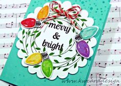 Sunny Studio Stamps: Merry Sentiments Card by Kari Webster