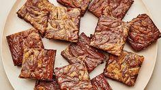 David Lebovitz's timeless gluten-free brownie recipe inspired our own GF take on classic fudgy brownies with a modern, sweet tahini swirl.