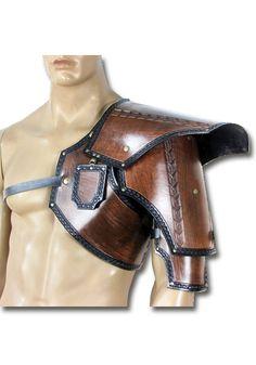 Larp Schulterrüstung Khazad, braun von Faun Forge