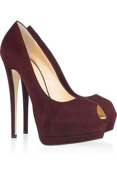 GIUSEPPE ZANOTTI |Suede peep-toe pumps.....Gorgeous