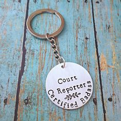 Court Reporter  Keychain  Court Reporting  by tagsandthingsbyk