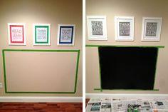 DIY Chalkboard Magnet Wall