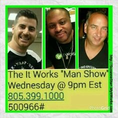 Guys, not quite sure how you would fit in at a company like #ItWorksGlobal?!  Want the hear from men who rock this business?  Listen in to this call tonight at 9pm and catch the vision!  Contact me after with your questions.  Suzanne 732-207-6819 Starr_sz@yahoo.com Http://SuzanneStarr.MyItWorks.com  #wraps #itworks #itworksincome #debtfree #BetterTogether #Teamwork #InvestInYourself #OurTime #BeTheBoss #ItWorksWay #YourJourney #DreamBig #LivingTheDream