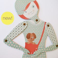 Mow's articulated paper doll ••● NEW ●•• Choose the name of this doll!
