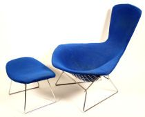 Harry Bartinio Bird Chair and Ottoman