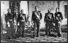 Ο ύπατος αρμοστής πρίγκιπας Γεώργιος με τους ναυάρχους των Μεγάλων Δυνάμεων. Κρήτη, 1898.