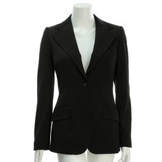 Dolce & Gabbana Black Wool Blazer