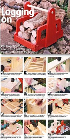 Log Tote Plans - Woodworking Plans and Projects   WoodArchivist.com
