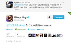 YOU GO MIKEY (EVEN THOUGH YOU WON'T BE IN THE BAND IF THEY END UP ALL REJOINING AND YOU HAVE THOUGHT ABOUT LEAVING THE BAND) YOU GO