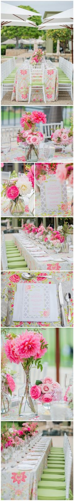 Beautiful Pink and Green Bridal Luncheon at the Country Club » Only on Ooh LaLa La Fete