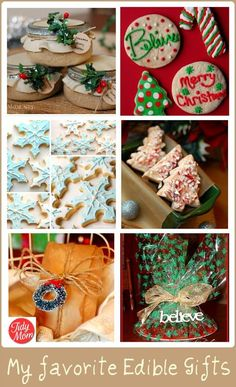 Delicious Edible Gift Ideas- Food, Presents and Holiday Craft Ideas #diy food ideas