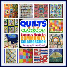photo of: Quilts in the Classroom: Art Meets Geometry RoundUP at RainbowsWithinReach Classroom Projects, Classroom Decor, Montessori Classroom, Classroom Organization, School Projects, Quilting Projects, Art Projects, Group Projects, Auction Projects