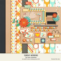 *Freebie* Sunday Morning - Free Digital Scrapbooking  Mini Kit from Miu Creations