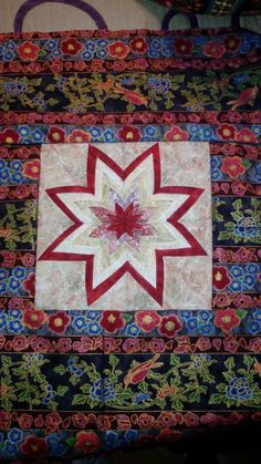 Estrella de 8 puntas patchwork