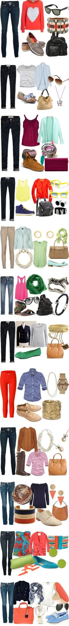 cute outfits for school/college