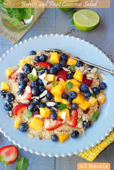 Minty Fresh Berries and Fruit Couscous salad
