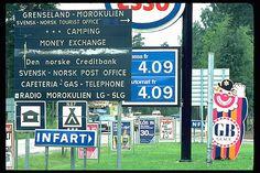 Gränsstation mellan Sverige och Norge. Bilden troligen från mitten av 1980-talet.  HändelseProducerades iEda,Eda, Värmland, Värmland av Nilsson, Pål-Nils.