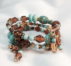 Brown & Turquoise Elegant Wrap Bracelet TDC by TheaDesignConcepts, $14.99