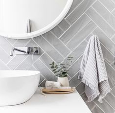 Grey herringbone tile bathroom wall - April 13 2019 at Laundry In Bathroom, Bathroom Renos, Bathroom Inspo, Bathroom Renovations, Bathroom Interior, Bathroom Inspiration, Bathroom Ideas, Bathroom Designs, Restroom Ideas